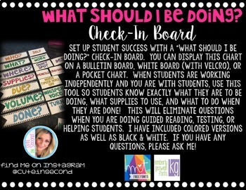 What Should I Be Doing Check-In Board Classroom Management