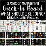 Visual Picture Check-In Board for ALL STUDENTS Classroom Management
