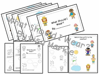 What Should I Wear? A NO PREP Mini-Book About Weather and Matching Activity
