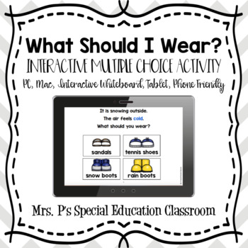 What Should I Wear? Digital Multiple Choice Activity