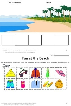 Life Skills What Should I Wear Cut and Paste Special Education Kindergarten