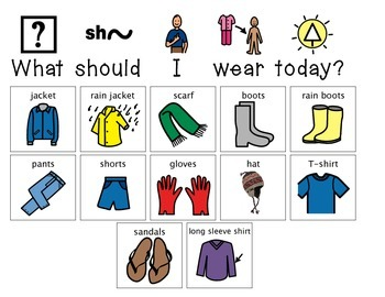 """""""What Should I Wear Today?"""" Daily Activity"""