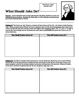 What Should John Adams Do?