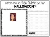 What Should My Teacher Be For Halloween Writing