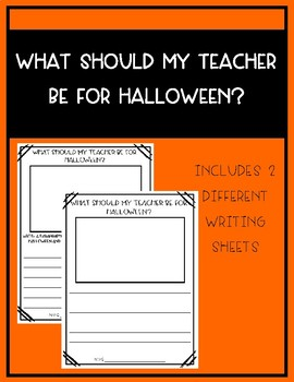 What Should My Teacher be for Halloween