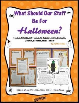 What Should Our Staff Be For Halloween Bundle (Principal/Art/P.E.Teacher/Etc.)