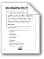 What Should You Write About? (Brian Pinkney/author and ill