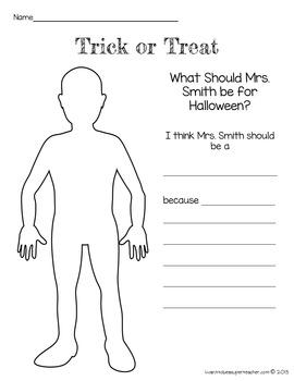 Halloween Art: What Should my Teacher be for Halloween? Editable Art Freebie