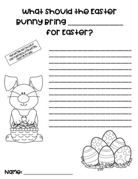 Easter Bunny Writing Activity