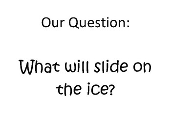 What Slides On The Ice? Science Activity