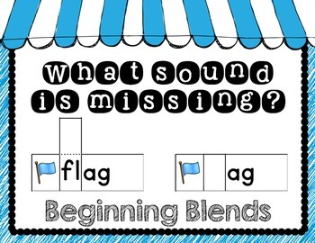What Sound is Missing: Beginning Blends Flap Cards