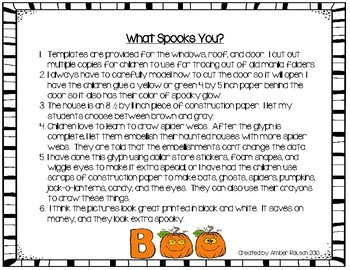 Halloween Math Activities-~A Halloween Haunted House Glyph