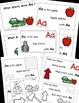 Letter A, Alphabet Emergent Reader, Cut and Paste, Alphabe