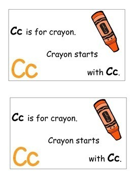 Letter C Alphabet Emergent Reader and Cut and Paste Activities Reader