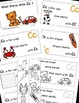 Letter C Alphabet Emergent Reader and Cut and Paste Activi