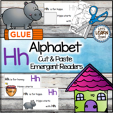 Letter H Alphabet Emergent Reader and Cut and Paste Activities Reader
