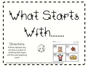 What Starts With........  (alphabet activity)
