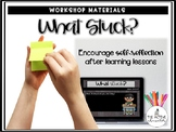 What Stuck? Math & Reading Debrief Slides (EDITABLE versio