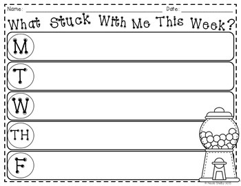 What Stuck With Me? Student Reflections and Exit Slips {Freebie}