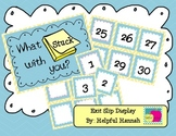 What Stuck With You?  Exit Slip Display