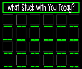 What Stuck With You Exit Slip Poster {20x24 Black & Green}