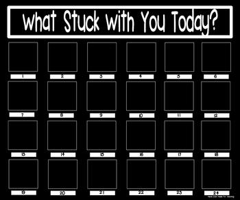 What Stuck With You Exit Slip Poster (20x24 Black & White}