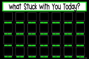 What Stuck With You Exit Slip Poster {20x30 Black & Green}