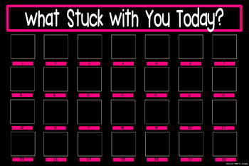 What Stuck With You Exit Slip Poster {20x30 Black & Pink}