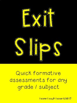 Exit Slip Bundle