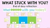 What Stuck With You Today? End of Day Reflection/Visible T