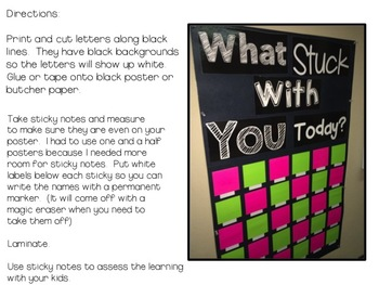 What Stuck With You Today Poster