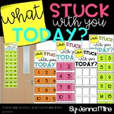 What Stuck With You Today Quick Informal Assessment Ticket