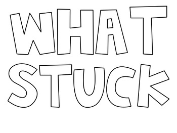 """What Stuck With You"" Exit Ticket Poster"