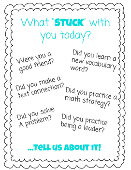 "What ""Stuck"" with you today?"