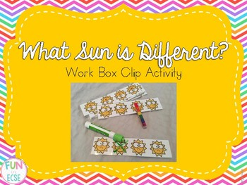 What Sun is Different? Work Box Activity Freebie