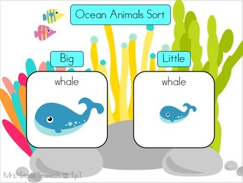 What Swims in the Ocean Interactive Flip Book plus sorting activity