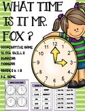 Telling Time &Clock Skills Interactive Movement Game, P.E, Brain Break, Math