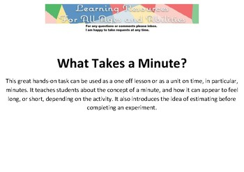 What Takes a Minute?