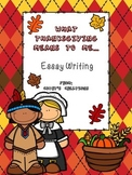What Thanksgiving Means to Me Essay