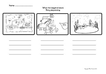 What The Ladybird Heard Sequencing Worksheet