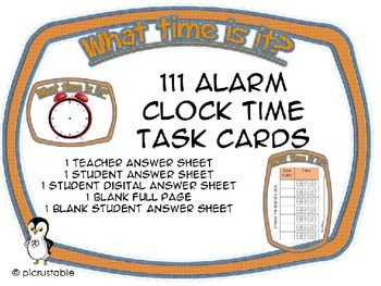 What Time Is It?  {111 Task Cards}
