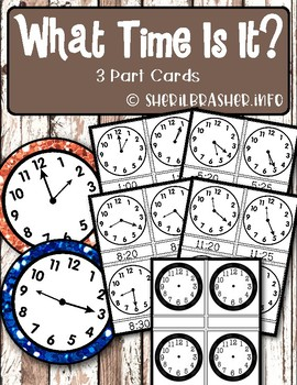 What Time Is It? | 3-Part Cards | Montessori-Inspired