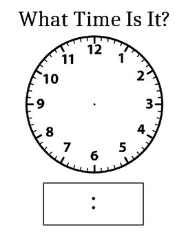 What Time Is It? - A Clock Template Great for Sheet Protectors