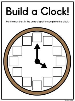Telling Time for Kindergarten: Centres, Printables & More