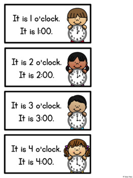 Telling Time for Kindergarten: Centres, Printables & More