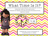 What Time Is It? Adaptive book to work on time to the half hour