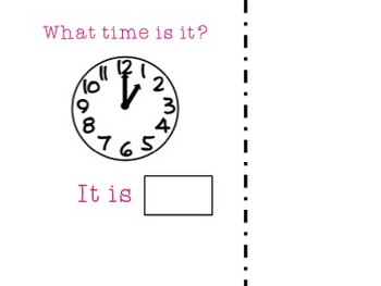 What Time Is It? Adaptive book to work on time to the hour