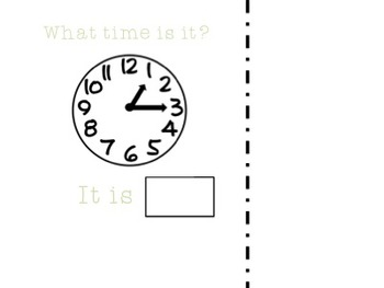 What Time Is It? Adaptive book to work on time to the quarter hour