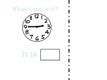 What Time Is It? Adaptive book to work on time to the quarter hour (Book 2)
