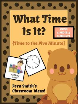 Groundhog Day What Time Is It? Center Game - Time To the Five Minutes Center